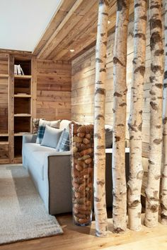 Dividir estancias con troncos