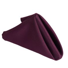 """17""""x17"""" EGGPLANT Wholesale Polyester Linen Napkins For Wedding Birthday Party Tableware - 5 PCS /  Napkins are a must whenever food is served. Besides being a key element to produce a fashionable and elegant feel at your special event, napkins are the most functional piece of an event decor. Our high quality napkins are made from 100% polyester material and cope efficiently well with spills and splashes. Their attractive look and premium quality fabric add a decorative touch to your wedding…"""