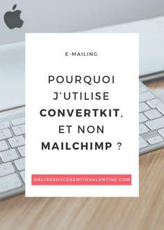 Découvrez pourquoi j'utilise ConvertKit à la place de MailChimp. Conseils e-mailing, conseils newsletters, #emailing, #emailmarketing, #emailnewsletters