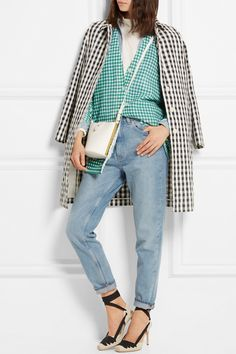 J.Crew | Gingham cotton-blend cardigan | NET-A-PORTER.COM