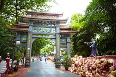 """Visiting Asia's weirdest theme park on the outskirts of  Singapore - """"The point is that visiting Haw Par Villa is bafflingly, magnificently weird – at least for people who don't understand Chinese folklore (and probably, I think, for people who do). For a children's theme park, I found bits of it downright terrifying. Imagine Disneyland if Walt Disney had hired Aleister Crowley and David Lynch as the architects."""""""