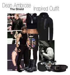 """""""Dean Ambrose(TheShield) Inspired Outfit"""" by sage-forever ❤ liked on Polyvore featuring Estradeur, DRKSHDW, Exull, Uniqlo, Lord & Taylor, WWE, theshield and DeanAmbrose"""