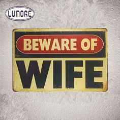Retro Wall Signs - Wife