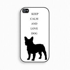 Keep calm and love dog iPhone case iPhone 4s Case by iPurely, $15.00