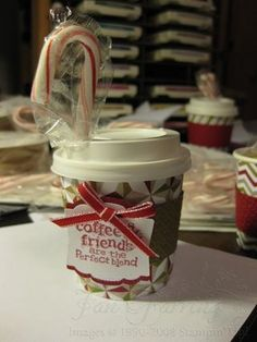 Christmas treats  mini coffee cups  cup pattern  CRAFTS