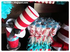 the cat in the hat party decorations and tutorials