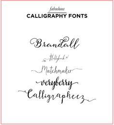 Kate Stevens Designs: Fabulous Calligraphy Fonts