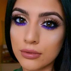 "Deanna Paley on Instagram: "" pop of color using @maccosmetics \'Violet\' pigment @anastasiabeverlyhills brow definer in \'Dark Brown\' & \'Crushed Pearl\' from the #GlowKit…"""