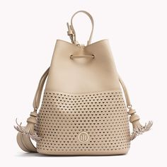 Tommy Hilfiger Leather Bucket Bag - cuban sand (Brown) - Tommy Hilfiger Bucket Bags - main image