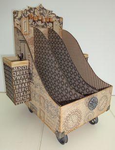 Petra's scrapblog: Paperholder on Wheels
