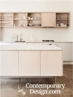 Plywood kitchen design Take this kitchen design as inspiration and make use of plywood.