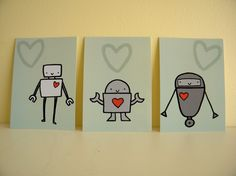 robot love (for kristin) colored back ground though