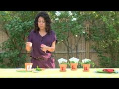 Host Evette Rios helps you paint pots that make perfect, personalized placeholders or practical hostess gifts.