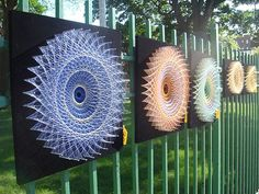 Spirograph string art, used to love doing this as a kid, have always wanted to see it contemporised...