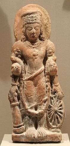 Standing Four-Armed Vishnu,Gupta period.5th century,India Terracotta