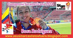 Medalla de ORO para Rosa Rodriguez en lanzamiento de martillo de los Juegos Suramericanos Chile 2014