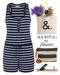 """Flowers - From Me, to Me! :)"" by valsal ❤ liked on Polyvore featuring maurices, Tory Burch and Straw Studios"