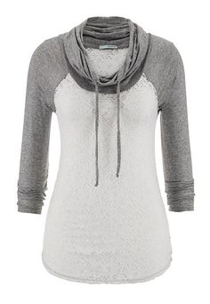 e568dae8bdb5 cowl neck lace baseball tee (original price,  29) available at  Maurices  Sweater