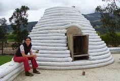 This one isn't really very small, but I really like it. A cool option. Earthbag Building: La Casa Vergara