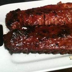 Southern Grilled Barbecued Ribs Smokey flavor without extended grill ...