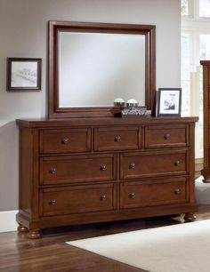 Reflect Mild Cherry Dresser & Mirror $947.77 Sku:147531 Dimensions:65Wx19Dx79H The Reflect Collection maintains an air of regal splendor and classic luxury. Meticulous craftsmanship exudes every piece with a Made in USA spirit and attitude. Retreat and relax in your calm surroundings every night while you enjoy the character and warmth of your USA made bedroom suite. Please visit our website for warranty and benefits.
