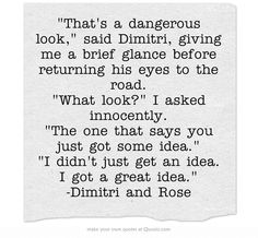 vampire academy rose and dimitri Best Quotes From Books, Favorite Book Quotes, Own Quotes, Vampire Academy Rose, Vampire Academy Books, I Love Books, Good Books, Big Books, Dimitri Belikov