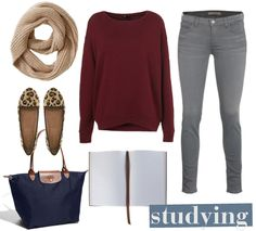 6 Outfits for Studying in the Library | College Gloss. everyone knows I'll never dress up to study, but i can pretend,,,