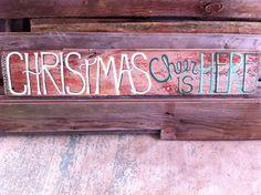 Holiday barnwood sign  Christmas cheer is here by Barnwords