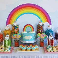welcome home party Rainbow Unicorn Party, Rainbow Birthday Party, 3rd Birthday Parties, 1st Birthday Girls, Birthday Fun, Birthday Ideas, Rainbow Party Decorations, Rainbow Parties, Birthday Party Decorations