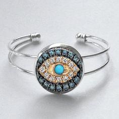 Jeweled+Evil+Eye+Bracelet+Good+Luck+Charm+by+MissingPiecesStudio,+$15.95