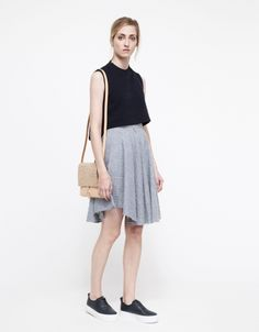 Lykke Skirt in Chambray