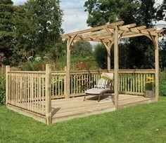 1000 images about garden decking on pinterest forest for Garden decking kits uk
