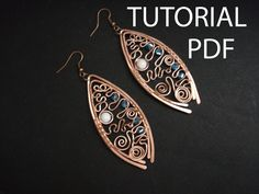 Wire wrap earrings tutorial, jewelry tutorial, copper earrings tutorial, jewelry lessons, jewelry instruction, wire wrap tutorial, pdf file by MargoHandmadeJewelry on Etsy https://www.etsy.com/listing/207946884/wire-wrap-earrings-tutorial-jewelry