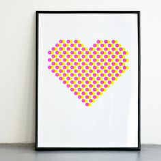 EVERY DAY IS VALENTINE. NEON SCREENPRINT 11.7 X 15.7 available in the decor8 great.ly shop MADE BY CONI LAB