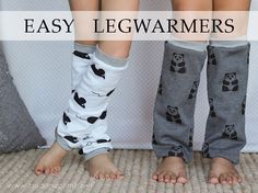 Easy Legwarmers Tutorial-out of old sweat shirts or any stretchy fabric Sewing Tutorials, Sewing Crafts, Sewing Projects, Sewing Patterns, Sewing Stitches, Sewing Hacks, Diy Projects, Diy Crafts, Diy Clothes And Shoes