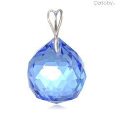 Niebieska zawieszka w kształcie kulki