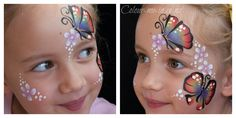 Butterfly Garden, face painted by Stephanie, www.colour-me-in.co.nz. You don't have to have a full face paint to have a rainbow butterfly. This design is a great option for younger children or those who don't want the area around their eyes painted. Butterfly Face Paint, Rainbow Butterfly, Eye Painting, Face Painting Designs, Full Face, Color, Image, Printables, Eyes