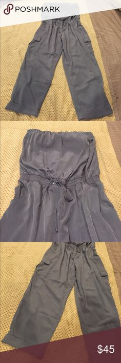 Beautiful Jumpsuit NY & Co. Beautiful Jumpsuit with built in bra and elastic at the waist and joy string to adjust, pockets and cargo pockets. Great with a pair of heels or flats. Worn once New York & Company Other