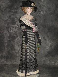 French Edwardian Reception Gown  c. 1910