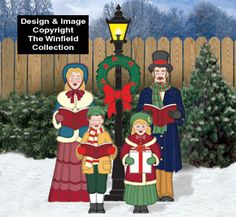 Alle Weihnachten - Victorian Caroling Family Pattern Set - New Ideas Christmas Yard Art, Christmas Window Decorations, Outside Decorations, Christmas Wood, Victorian Christmas, Christmas Carol, Country Christmas, Christmas Projects, Holiday Crafts