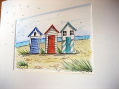 Beach Huts All individual Original Paintings £30 plus P www.facebook.com/thepoppets