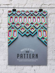 Turkish graphic designer Efil Türk has created series of paper art posters for her Thesis project called: Principle of Design Poster Series - featuring top 10 design principles; Balance, Hierarchy, Pattern, Rhythm, Space, Proportion, Emphasis, Movement, Contrast, and Unity with their own paper art form.