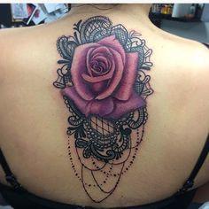 dantel dövmeleri lace tattoos with rose