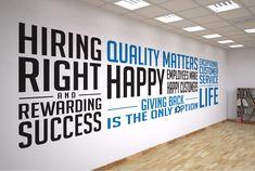 Company values vinyl wall graphics Office Workspace, Office Walls, Office Wall Art, Office Interior Design, Office Interiors, Creative Office Decor, Office Ideas, Company Core Values, Office Wall Graphics