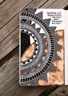 ) by rebecca blair journalling art journal inspiration, a Zentangle Drawings, Mandala Drawing, Doodle Drawings, Mandala Art, Doodle Art, Zentangles, Kunstjournal Inspiration, Art Journal Inspiration, Mandala Design