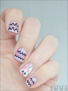 Easter Nail Designs and Ideas - 30 Fantastic Easter Nails Nail Art Designs, Easter Nail Designs, Easter Nail Art, Manicure, Diy Nails, Love Nails, Pretty Nails, Bunny Nails, Nail Candy