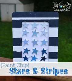 The Crafty Scientist: {Paint Chip} Stars & Stripes