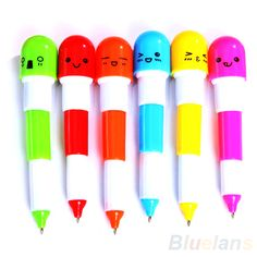 Funky capsule pens. To buy contact Brats N Fairys @ 9810802622
