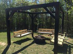 DIY Fire Pit Swing Set | Ikea Decorating Ideas