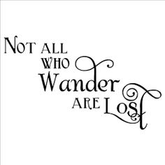 Not All Who Wander Are Lost wall saying vinyl lettering home decor decal sticker quotes appliques art harry potter dumbledore